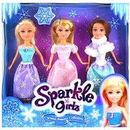 Princezna Sparkle Girlz zimní set 3 ks - Puppe