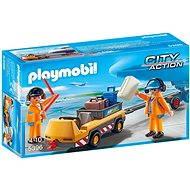 PLAYMOBIL® 5396 Flugzeugschlepper mit Fluglotsen - Baukasten