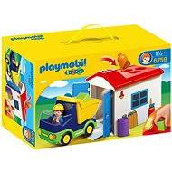 PLAYMOBIL® 6759 LKW mit Sortiergarage (1.2.3) - Spielzeug für die Kleinsten