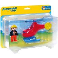 PLAYMOBIL® 6789 Feuer-Hubschrauber (1.2.3) - Spielzeug für die Kleinsten
