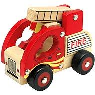 Spielzeug Bino Feuerwehr-Auto aus Holz - Auto
