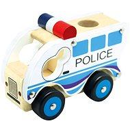 Bino Dřevěné auto policie - Auto