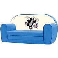 Bino Mini-blauen Sofa - Maulwurf - Kindermöbel