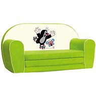 Bino Mini-Sofa grün - Maulwurf - Kindermöbel