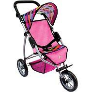 Bino Tříkolový kočárek pro panenky – barevný - Puppenwagen