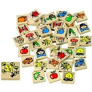 Memoryspiel Detoa Memory Spiel aus Holz - Pexeso