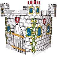 Bino-Papphaus aus Wellpappe - Burg - Kinderspielhaus