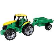 Lena Traktor aus Kunststoff mit einem Wagen - Auto