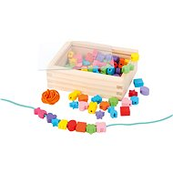 Holzperlen zum Auffädeln in einer Box - Perlen