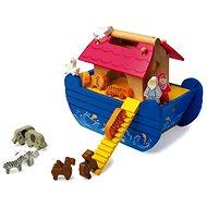Dřevěná Noemova archa modrá - Spielset