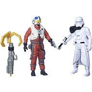 Star Wars Episode 7 - First Order Snowtrooper Officer + Snap Wexley - 2 Spielfiguren mit Zubehör - Spielset