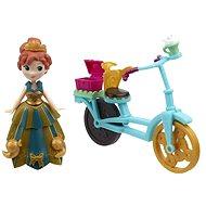 """Figur aus dem Disneyfilm """"Eiskönigin"""" - Anna & Fahrrad - Puppe"""
