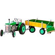 Kovap Traktor, mit Anhänger, grün - Metall-Model