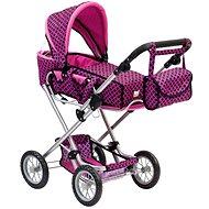 Bino Puppenwagen pink/schwarz - Puppenwagen