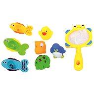 Bino Set Spielzeug für die Badewanne mit Fang-Netz - Wasserspielzeug