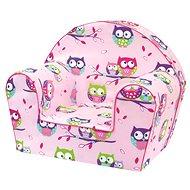 Bino Sessel rosa - Eulen - Kindermöbel