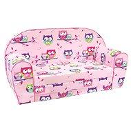 Bino Sofa Rosa - Eulen - Sessel für Kinder