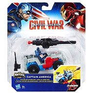 Hasbro Marvel Civil War Captain America mit Blitzstart-Geländewagen - Figur