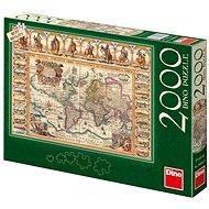 Dino Historische Weltkarte - Puzzle