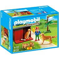 PLAYMOBIL® 6134 Golden Retriever mit Welpen - Baukasten