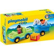 PLAYMOBIL1.2.3 ® 6958 PKW mit Pferdeanhänger - Baukasten