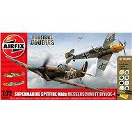 AirFix Gift Set A50135 Flugzeuge – Supermarine Spitfire MkIa vs Messerschmitt Bf109E-4 - Plastik-Modellbausatz