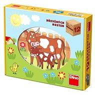 Dino Holzwürfel - Haustiere - Bild-Würfel