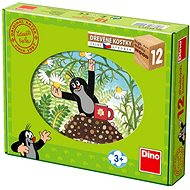 Der kleine Maulwurf und seine Freunde - 12 Holzwürfel - Bild-Würfel
