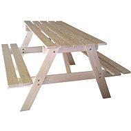 CUBS Kinder-Picknick-Tisch aus Holz - Groß - Spielplatz-Zubehör