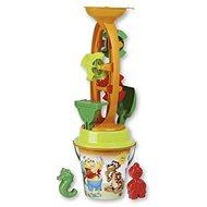 Androni - Sandspielzeug mit Wassermühle - Teddybär und Tiger - mittel - Sandkasten-Set