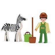 IGRÁČEK - Tierpfleger und Zebra - Spielset