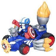 Hasbro Marvel Super Hero Mashers Micro - Actionfigur Captain America mit Schild-Flitzer - Figur