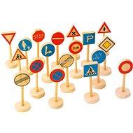 Dřevěné dětské dopravní značky velké - Spielset