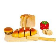 Spiel Set Nahrung aus Holz - zum Schneiden - Spielset