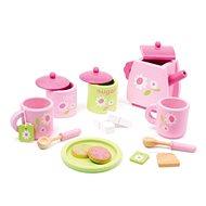 Teeservice aus Holz - rosa - Spielset