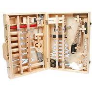 Deluxe Werkzeugkoffer aus Holz - Kinderwerkzeug