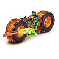 Motorrad mit roter Figur - Auto