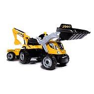 smoby Tret-Traktor Max mit Baggerschaufel und Anhänger - Trettraktor