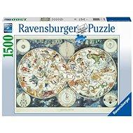 Ravensburger 160037 Weltkarte der fantastischen Tiere 1500 Puzzleteile - Puzzle