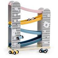 Holzrutsche mit Autos - Holzspielzeug