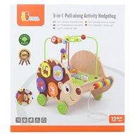 Hölzernes Nachziehspielzeug Igel mit Aktivitäten 5in1 - Nachziehspielzeug