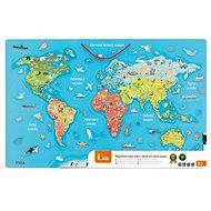 Holzspielzeug Hölzerne Weltkarte mit Tafel