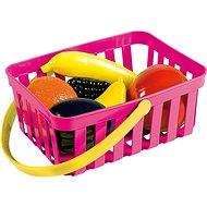 Androni Einkaufskorb mit Obst - 6 Stück, pink - Set