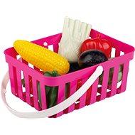 Androni Einkaufskorb mit Gemüse - 10 Stück, pink - Set