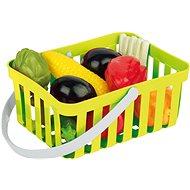 Androni Einkaufskorb mit Gemüse - 10 Stück, grün - Set