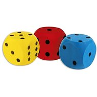 Androni Soft-Würfel - Größe 16 cm, rot - Ball für Kinder