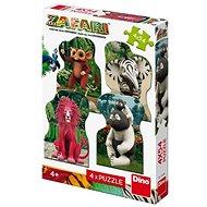 Zafari: Zoomba und Freunde 4X54 Puzzle Neu - Puzzle