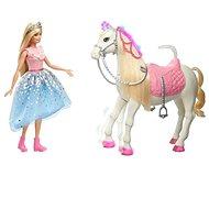 Barbie Princess Adventure Prinzessin und Pferd mit Lichtern und Geräuschen - Puppe