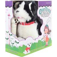 Schwarzweisser Hund mit Kabel - Interaktives Spielzeug