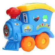 Spielzeugeisenbahn blau
